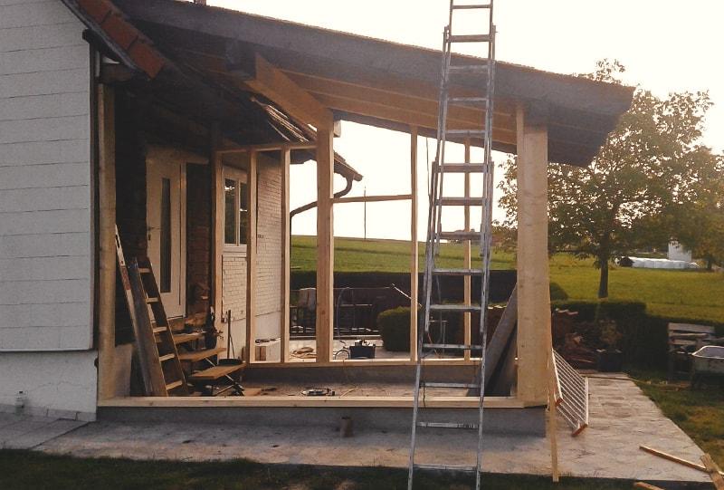 Unterkonstruktion Hausanbau von Hattinger Holzbau GmbH