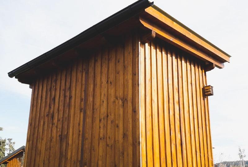 Bienenhaus Rückansicht