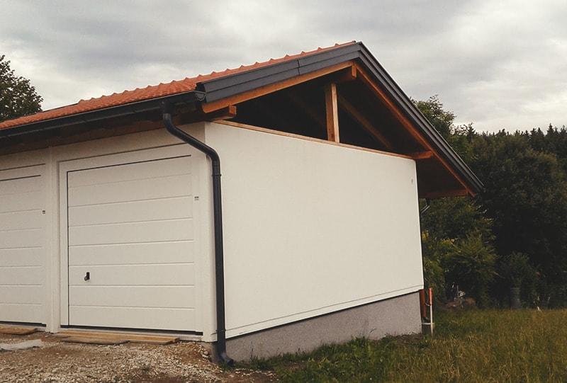 Garage mit Dachstuhl Hattinger Holzbau GmbH Pramet