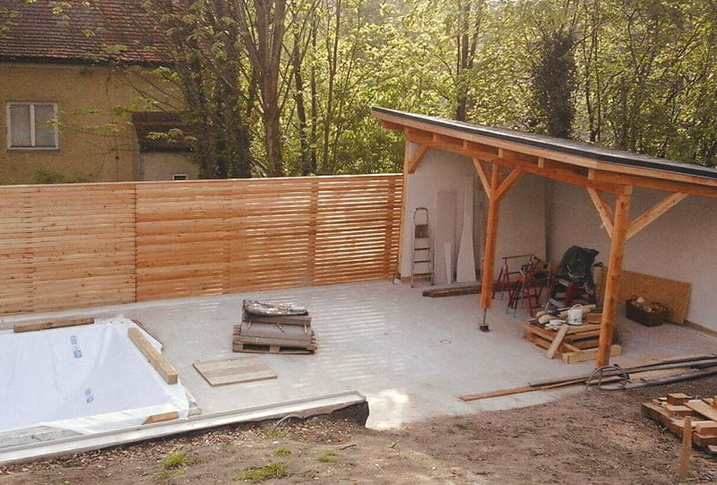 Poolhaus Untersteller Hattinger Holzbau GmbH