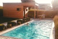 Poolhaus mit Pool Hattinger Holzbau GmbH