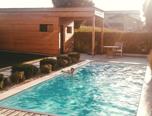 Poolhaus aus Lärchenholz
