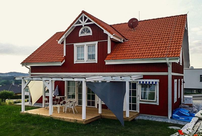 Schwedenhaus Terrasse von Hattinger Holzbau GmbH