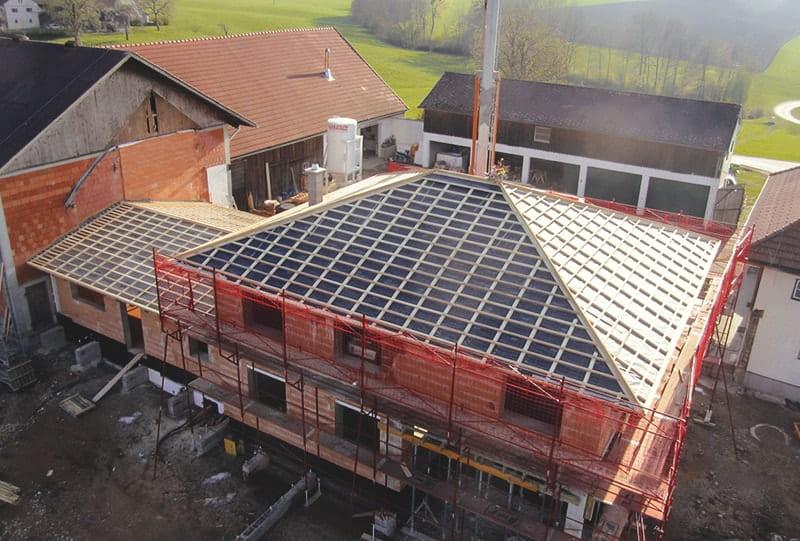 Walmdach Einfamilienhaus Hattinger Holzbau GmbH